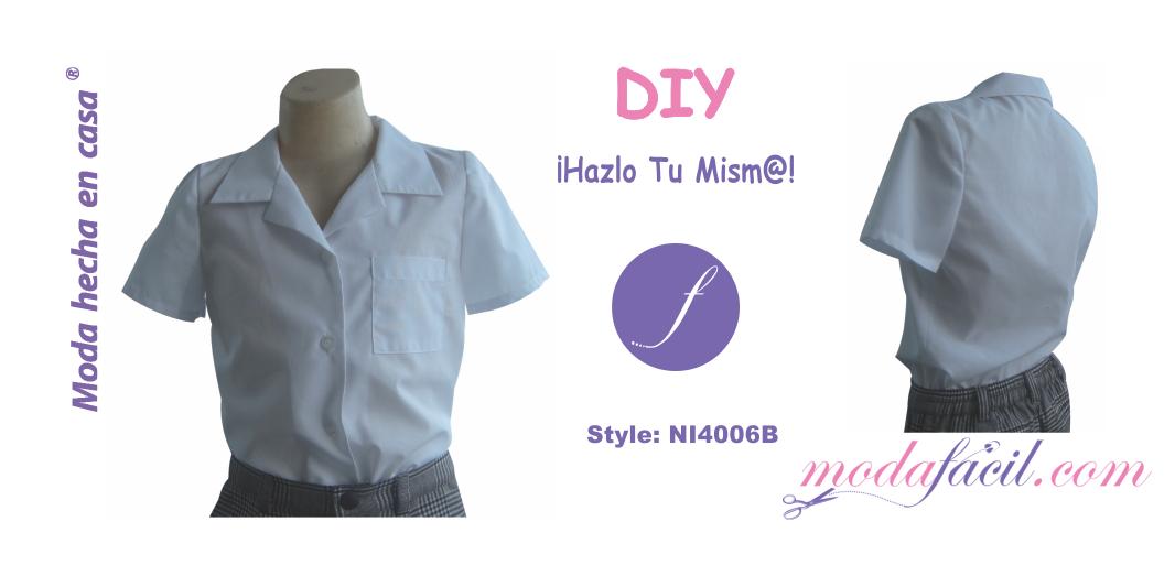 7b185b919 Aprender a cortar y coser un Patron de Blusa escolar