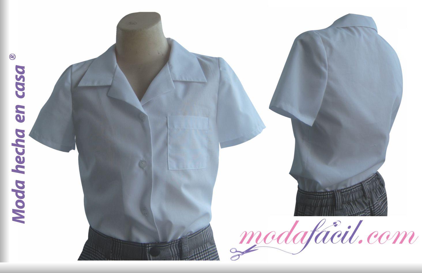 03f65259e5bdc Aprender a cortar y coser un Patron de Blusa escolar