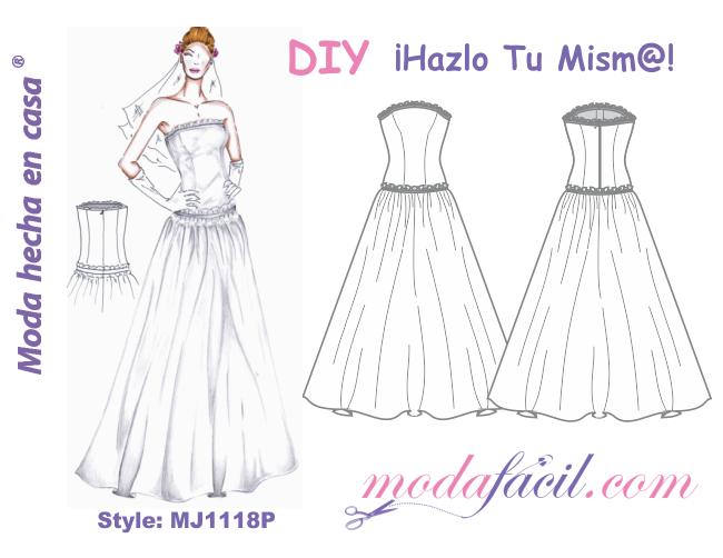 descarga gratis los patrones de este precioso traje de novia