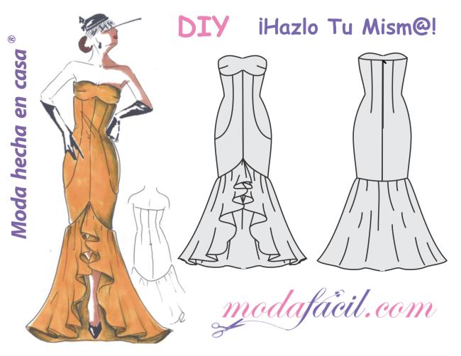 Patrones de vestidos de fiesta gratis para imprimir