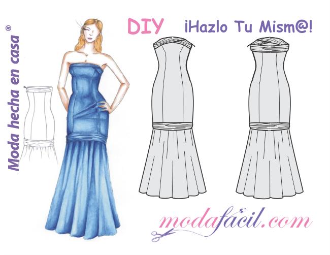 bfd8f7286 Elegante Vestido de Fiesta de Damas de Honor. Categories  Patrones