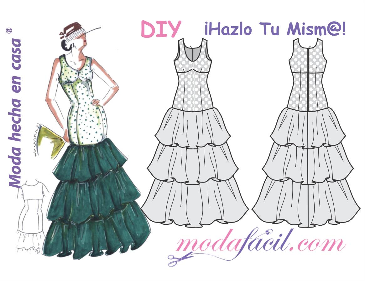 Patrones De Vestido De Fiesta Flamenco Ambar Para Lucir