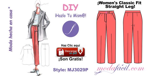 Pantalon Para Dama De Cintura Alta Bota Recta