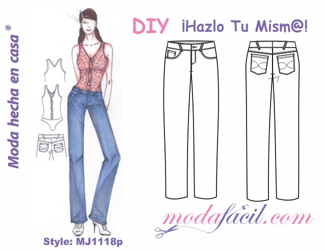 ffccfa8d7 Descarga los patrones del Pantalón de Mezclilla para Mujeres