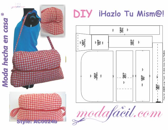 5e2afc81f Aprende a coser bolsos y maletines y este bolso pañalero grande