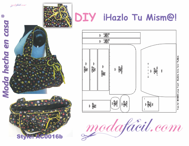 23edd2bdd Moldes de 10 bolsos y maletines para mujer - Modafacil.DIY