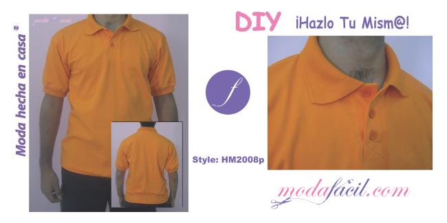 Patrones de Camiseta Polo para Hombres playera o remera HM2008p 3397183d98d43