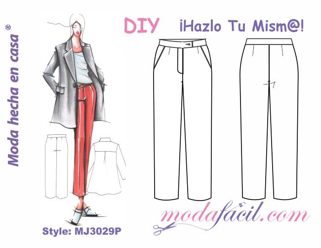 Descarga Los Patrones Del Pantalon Para Dama Cintura Alta