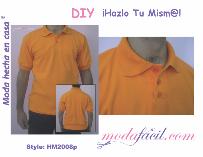 Patrones de Camiseta Polo para Hombres playera o remera HM2008p 5a7390846cc00