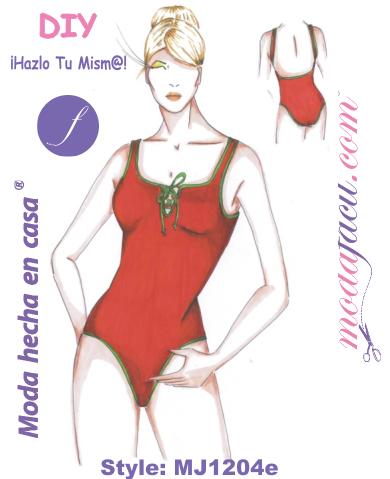 8da600e8b Patrones de Traje de Baño Clásico para Jovencitas y Adultas MJ1204e