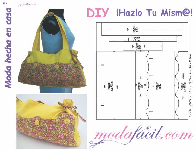 a663bfc6c97 Moldes de 10 bolsos y maletines para mujer - Modafacil.DIY