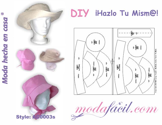 Descarga gratis los patrones de Sombrero Casual Reversible 64b69f138b0
