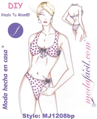 22b463ad4 Descarga los Patrones del Traje de Baño Bikini MJ1208bp