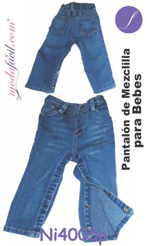 Moldes De Pantalon De Mezclilla Para Bebes Tipo Vaquero