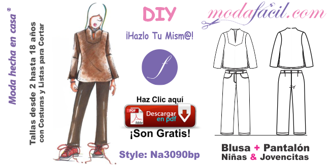 Descarga Los Moldes De Blusa Y Pantalon Para Ninas Y Jovencitas