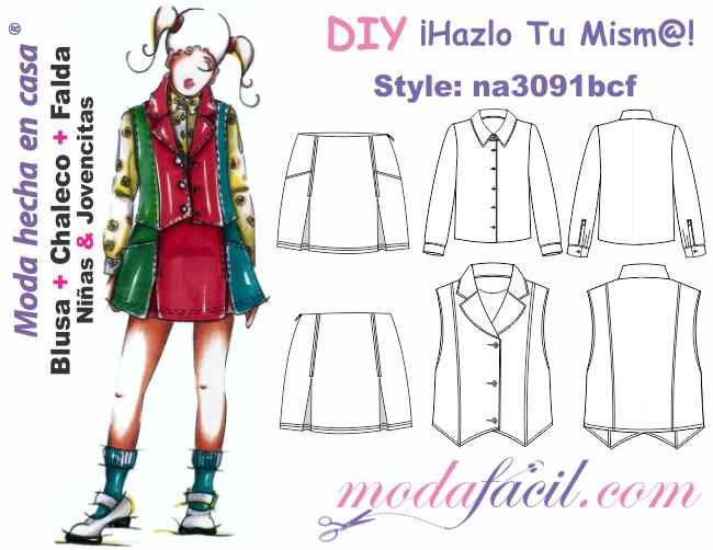 Descarga gratis los Moldes de blusa c3856ec57987