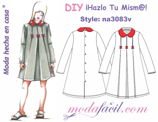 d88798b72 Descarga gratis los Moldes de vestido de niñas y jovencitas