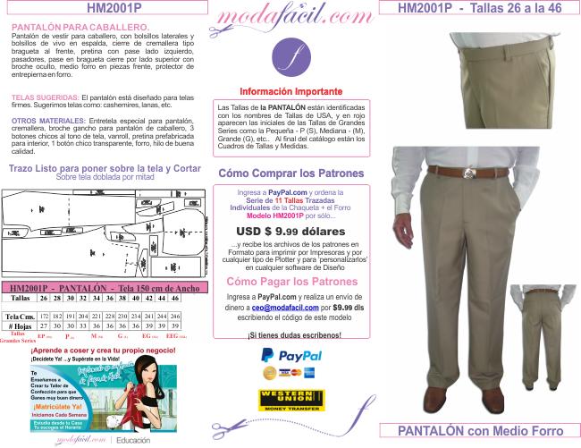 Catalogo De Moldes De Pantalones Bermudas Sacos Y Chaquetas