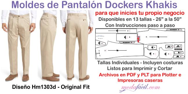 Moldes De Pantalon Dockers Classic Fit En 13 Tallas Hm1303d