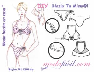 47eeb522f Traje de baño bikini. Traje de Baño clásico para Jovencitas y adultas